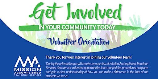 Volunteer Orientation - January 20