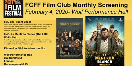 FCFF Film Club Monthly Screening Feb.- La Mentirita Blanca & Night Shoot tickets