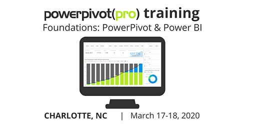 Foundations: Power Pivot and Power BI - Charlotte 2020
