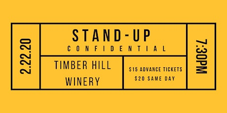 Stand-Up Confidential at Timber Hill Winery tickets