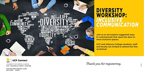 UCF Diversity Workshop : Inclusive Communication tickets