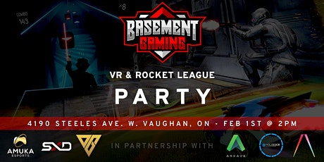 VR and Rocket League Party tickets
