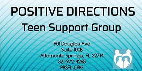 POSITIVE DIRECTIONS: Teen Support Group tickets