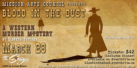Blood In the Dust Murder Mystery by Elspeth Futcher tickets
