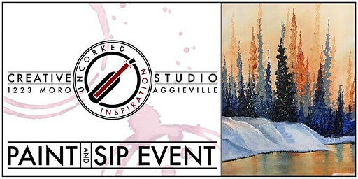 Paint & Sip | Snow Forest