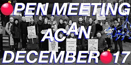 ACAN Open Meeting - 17th Dec tickets
