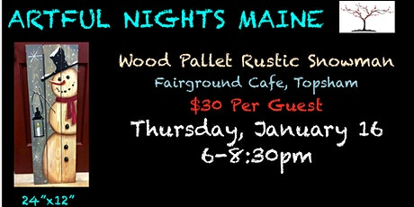 Wood Pallet Rustic Snowman at Fairground Cafe tickets