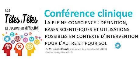 Conférence clinique de Annie Devault billets