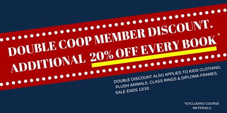 DOUBLE COOP MEMBER DISCOUNT HOLIDAY SALE tickets