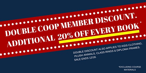 DOUBLE COOP MEMBER DISCOUNT HOLIDAY SALE