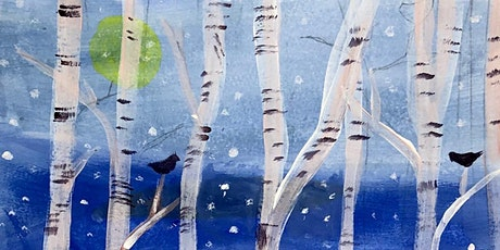 Paint Night  - Winter Trees - Paint your own ready to hang canvas! tickets