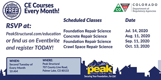 Free CE Course - Foundation Repair Science (2 Credits)