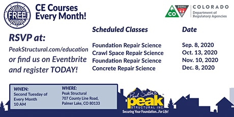 Free CE Course - Crawl Space Repair Science (2 Credits) tickets