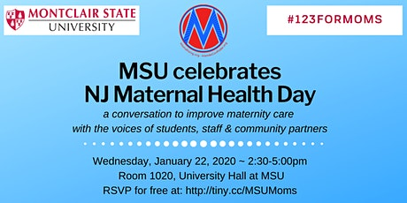 Montclair State Maternal Health #123ForMOMS on Jan. 22, 2020 tickets