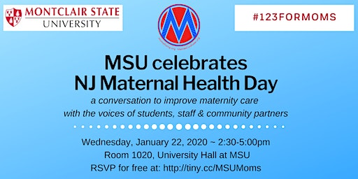 Montclair State Maternal Health #123ForMOMS on Jan. 22, 2020