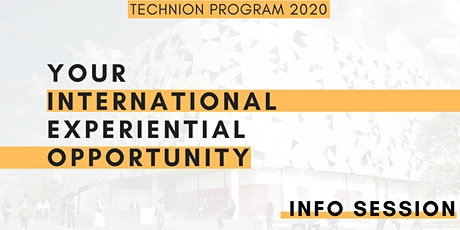 Information Session on International Experience Program: Technion 2020 tickets