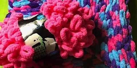 Loop Yarn Scarf or Baby Blanket