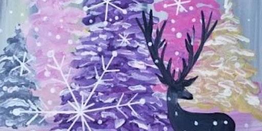 Winter wonderland paint and sip