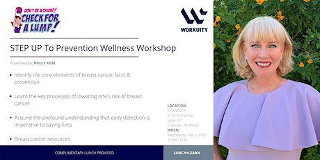 STEP UP To Prevention Wellness Workshop tickets