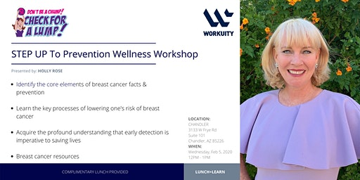 STEP UP To Prevention Wellness Workshop