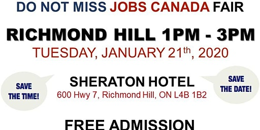 Richmond Hill Job Fair – January 21st, 2020