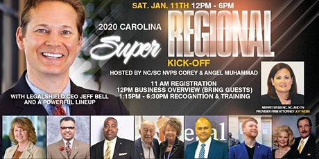 Carolina 2020 Super Regional Kick-Off with LegalShield CEO Jeff Bell tickets