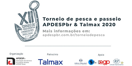 XII Torneio de Pesca esportiva APDESPbr & Talmax ingressos