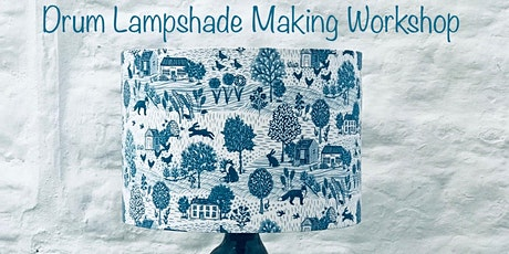 Drum Lampshade Making Workshop with Thread, White & Blue tickets