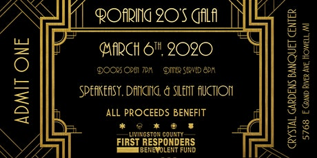 Livingston County First Responders Benevolent Fund - Roaring 20's Gala tickets