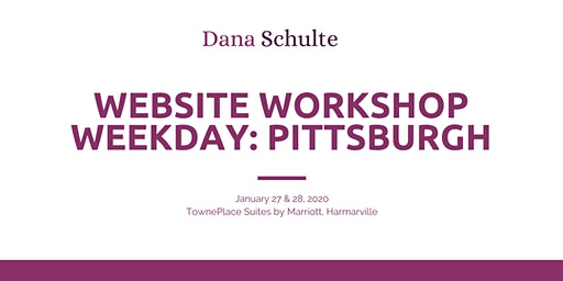 January Website Workshop Weekday in Pittsburgh