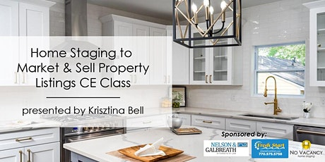 3HR  CE Class - Home Staging to Market & Sell Property Listings tickets