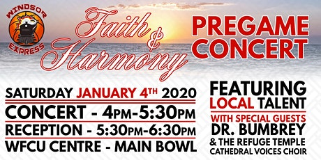 Faith & Harmony Pregame Concert tickets