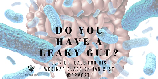 Webinar Event-The Wild Doc's Wellness Way to Healing Leaky Gut and its Negative Health Consequences