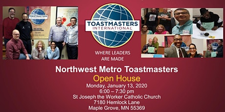 Open House Event for Northwest Metro Toastmasters Club  tickets
