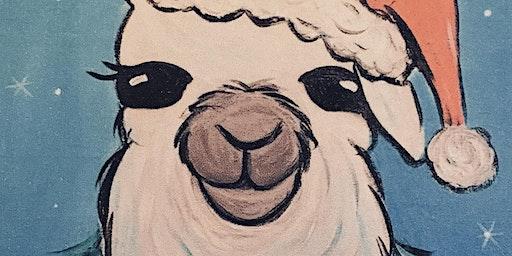 Kids' Holly Jolly Llama Paintings