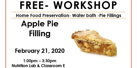 Food Preservation- Pie Filling tickets