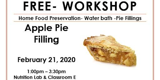 Food Preservation- Pie Filling