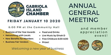 Chamber AGM and Business of the Year Awards tickets
