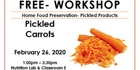 Food Preservation- Pickled Products tickets