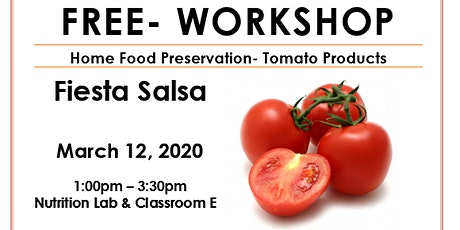 Food Preservation- Tomato Products tickets