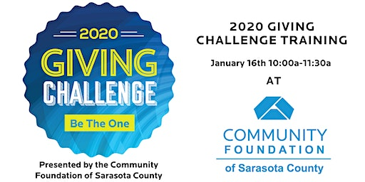 Giving Challenge Orientation at the Community Foundation of Sarasota County