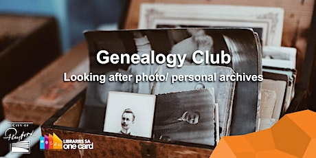 Genealogy Club: Looking after photo/ personal archives tickets