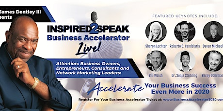 Inspired2Speak Business Accelerator Live! - Business Growth Workshop tickets