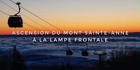 Ascension du Mont Sainte-Anne à la lampe frontale tickets