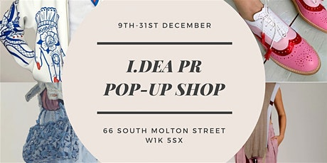 Christmas Drinks & Shopping at the I.DEA PR pop up store tickets