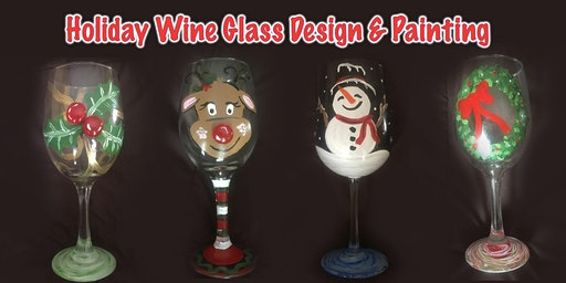 Holiday Wine Glass Design and Painting