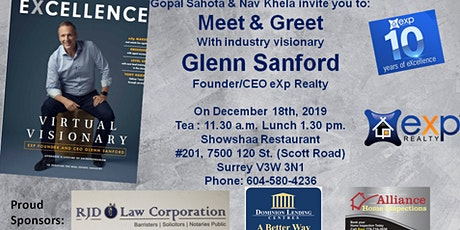 Meet and Greet with Glenn Sanford (Founder eXp Realty) tickets