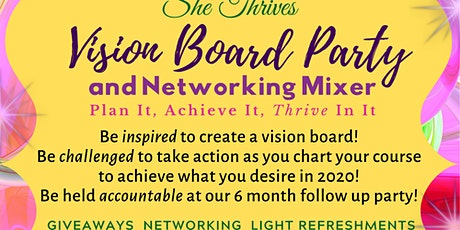 She THRIVES Vision Board Party and Networking Mixer tickets