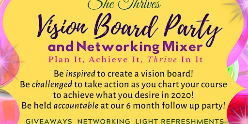 She THRIVES Vision Board Party and Networking Mixer