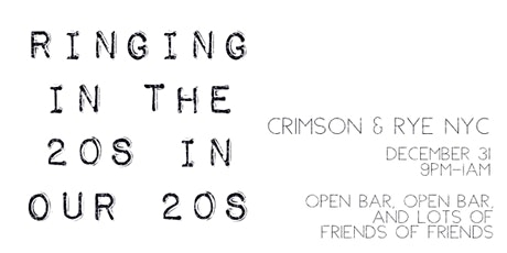 NYE w/ lots of friends and friends of friends tickets